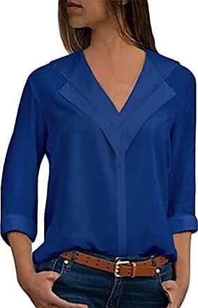 d1ce3ffe0a3a06 ORANDESIGNE Blusenshirt Damen Herbst Chiffon Oberteile Sommer lang Shirt  Frauen Casual Locker Tops Elegant Tuniken mit