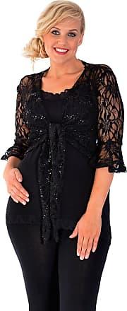 Nouvelle Collection 2 Way Sequin Shrug Black 20-22