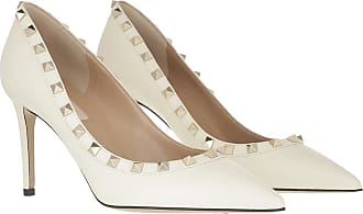 Valentino Pumps - Studded Rockstud Pumps Leather Light Ivory - white - Pumps for ladies