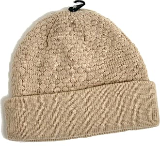 Topman Mens Stone Textured Knitted Beanie Hat One Size Grey