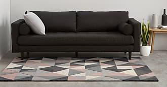 MADE.COM Henrik Teppich (160 x 230 cm), Rosa und Grau