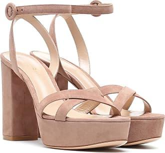 Gianvito Rossi Poppy 70 suede platform sandals