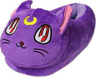 Cosstars Sailor Moon Anime Cosplay House Slippers Furry Indoor Slip On Shoes for Women and Men 5