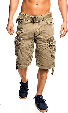 Geographical Norway Mens People Cargo Shorts - Beige - XX-Large