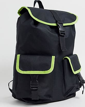 7X SVNX backpack with neon piping-Black