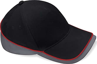 Beechfield Unisex Teamwear Competition Cap Baseball/Headwear (One Size) (Black/Graphite Grey/Classic Red)