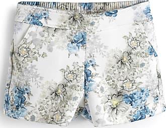 Milon Short Milon Menina Floral Branco/Azul
