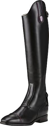 Ariat Womens FEI Monaco LX Dress Zip Tall Riding Boots in Black, B Medium Width, Regular Calf, Size 7, by Ariat