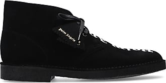 Palm Angels Suede Shoes With Logo Mens Black