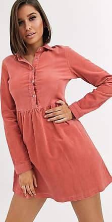 Missguided Hängerkleid aus Cord mit Rosenmuster-Rosa