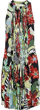 Etro Etro Woman Pintucked Printed Jersey Dress Multicolor Size 44