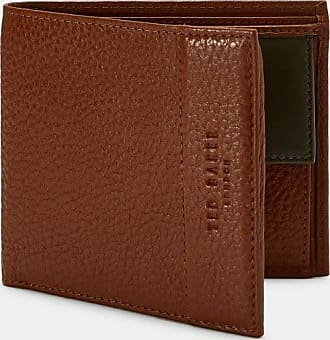 Ted Baker Leather Bifold Wallet in Tan CARABAS, Mens Accessories