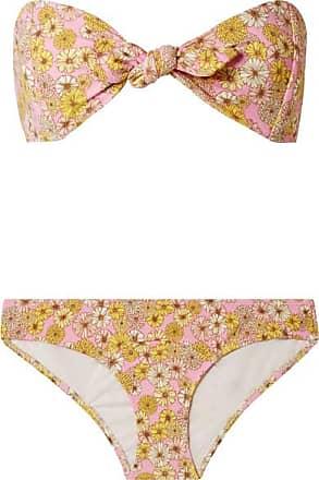 29208b000a602 Lisa Marie Fernandez Poppy Floral-print Stretch-crepe Bikini - Pink