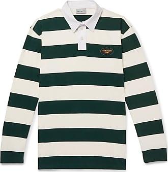 Carhartt Work in Progress Roslyn Twill-trimmed Striped Cotton Rugby Shirt - Green