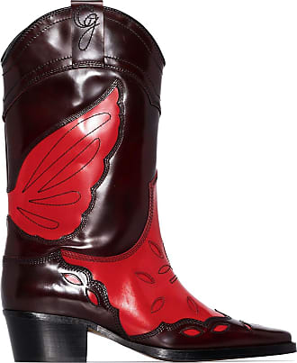 Ganni High Texas cowboy boots - Red