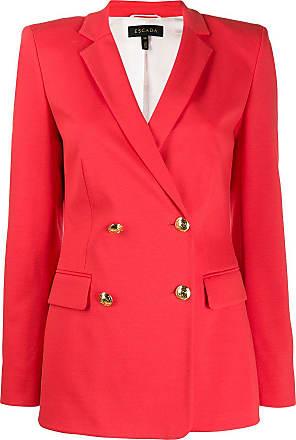 Escada classic double-breasted blazer - Vermelho