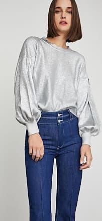 BCBGeneration Metallic Balloon Sleeve Sweater