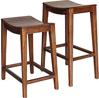 New Pacific Direct 6600012 Elmo Wooden Counter Bar & Counter Stools, Amber