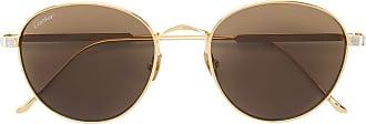 Cartier Óculos de sol redondo - Metálico
