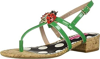 Betsey Johnson Womens Buggy Sandal, Natural Multi, 10 M US