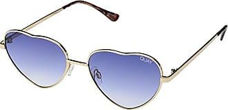 Quay Eyeware Kim (Gold/Blue Fade) Fashion Sunglasses
