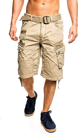 Geographical Norway Mens People Cargo Shorts - Beige - XXX-Large