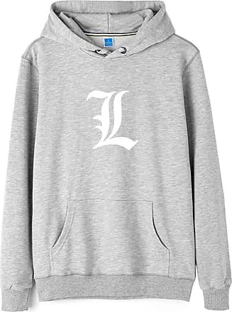 Haililais Death Note Pullover Pullover Sweatshirt Long Sleeve Sweater Outerwear Adult Casual Sports Fashion Wild Warm Men and Women Unisex (Color : Gray02, Size