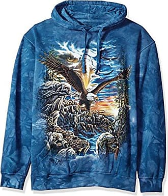 The Mountain Find 11 Eagles Adult Hoodie, Blue, Medium