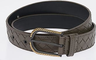 Bottega Veneta Cintura in Pelle Intrecciata 30 mm taglia 80