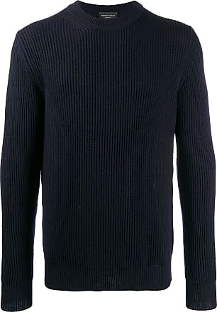 Roberto Collina ribbed knit crewneck jumper - Azul