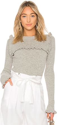 See By Chloé Ruffle Sweater in Gray