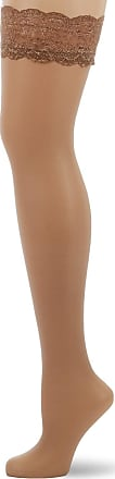 Fiore Womens Romina/Sensual Hold - up Stockings, 20 DEN, Brown (Natural), Large (Size: 4)