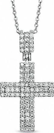 Zales 1/5 CT. T.w. Diamond Art Deco Cross Pendant in 10K White Gold