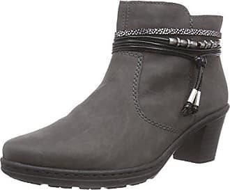 Rieker 54953 Damen Stiefeletten, grau (fumo schwarz-silber schwarz 45 dd12a27887