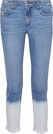 Derek Lam Derek Lam Woman Mila Cropped Dégradé Mid-rise Slim-leg Jeans Light Denim Size 25