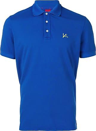 Isaia logo polo shirt - Blue