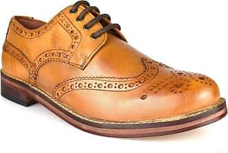 Redtape Meath Tan Brown All Leather Brogue Mens Formal Shoes