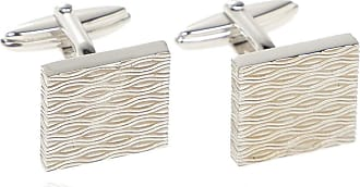 Lanvin Textured Cufflinks Mens Silver