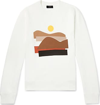 Joseph Printed Fleece-back Cotton-jersey Sweatshirt - White