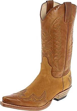 87f401cd8a59a6 Sendra Damen Herren Cowboy Stiefel 13170 Lederstiefel Braun 46 EU