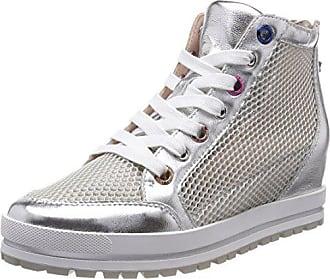 96420e377d5e83 Marc Cain Damen JB SH.39 L65 Sneaker Silber (Silver) 36 EU