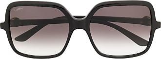 Cartier Óculos de sol quadrado C Décor - Preto