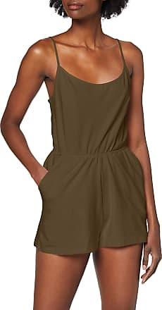 Urban Classics Womens Ladies Short Spaghetti Jumpsuit, Green (Olive 176), L