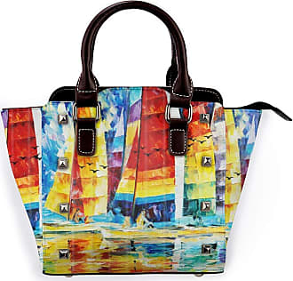 Browncin Sailboat Riding In The Sea Abstrat Art Detachable Fashion Trend Ladies Handbag Shoulder Bag Messenger Bags