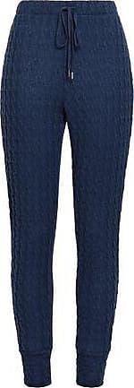 Cosabella Cosabella Woman Cable-knit Cotton-blend Track Pants Cobalt Blue Size S