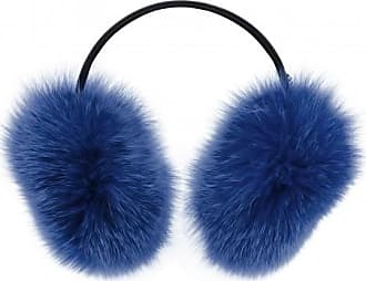 Giuseppe Zanotti Blue fox fur earmuff ELEONOR