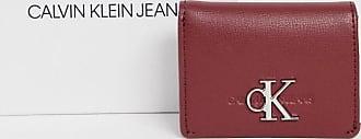 Calvin Klein Jeans Geldbörse mit Umschlagklappe und Monogramm-Logo-Rot