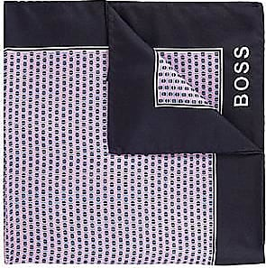 BOSS Silk pocket square with all-over digital print