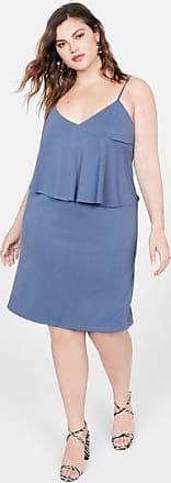 Violeta by Mango Ruffled ribbed dress