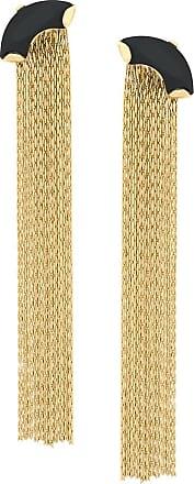 Wouters & Hendrix My Favourite onyx and chain earrings - Metallic
